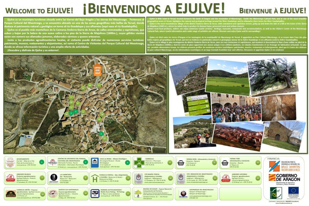 Panel turístico puntos de interés Ejulve