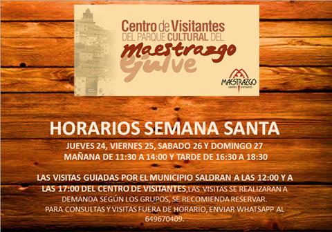 horarios centro visitantes semana santa
